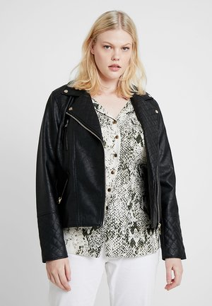 PENELOPE QUILTED BIKER - Faux leather jacket - black