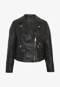 River Island Plus - Nahkatakki - black - 4