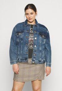River Island Plus - Denim jacket - denim dark - 0