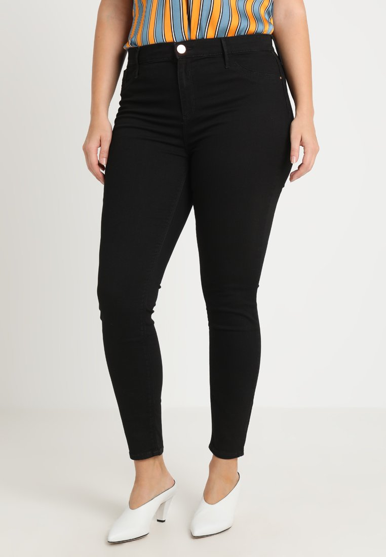 River Island Plus - MOLLY  - Jeans Skinny Fit - black