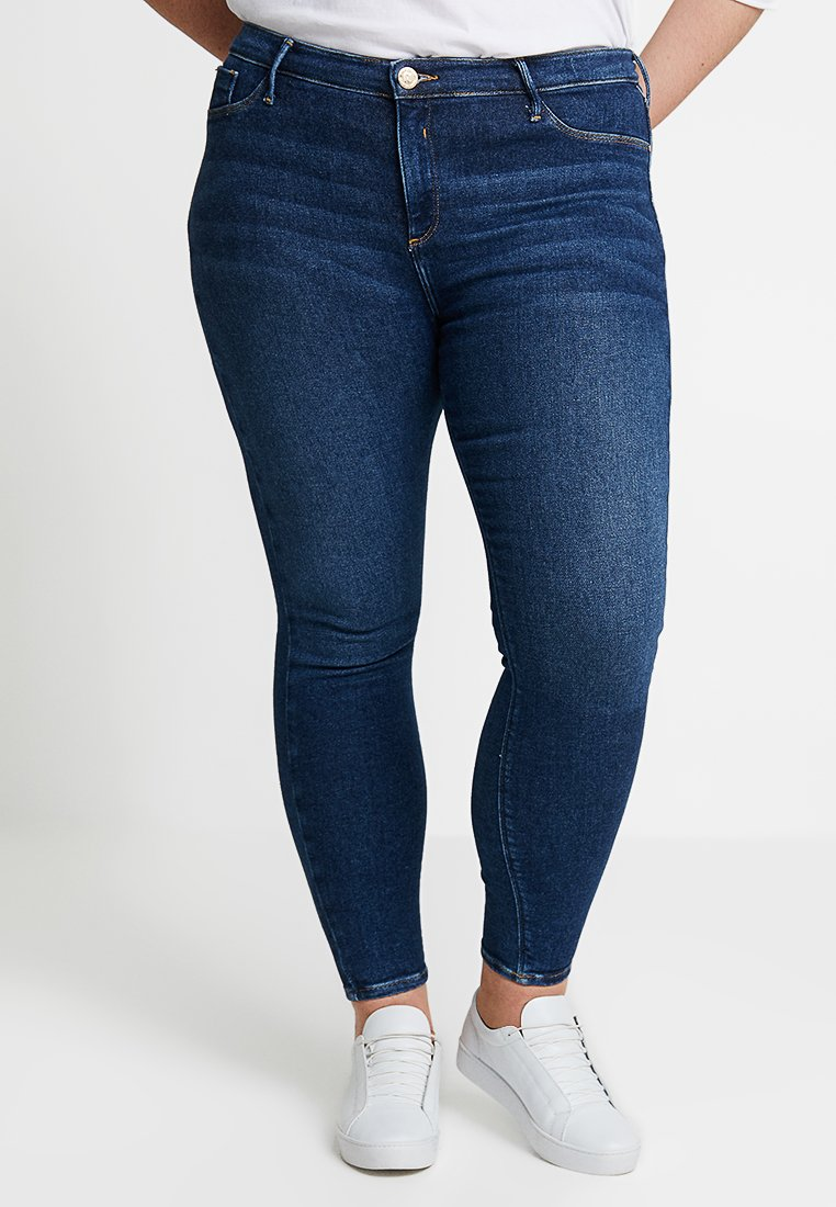 River Island Plus - Jeans Skinny Fit - blue denim