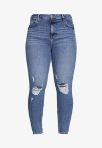 River Island Plus - Jeans Skinny Fit - dark-blue denim