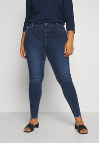 River Island Plus - Jeansy Skinny Fit - blue denim - 0