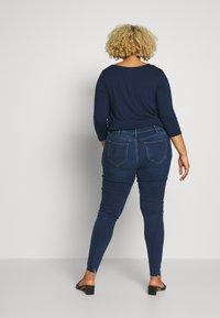 River Island Plus - Jeansy Skinny Fit - blue denim - 2