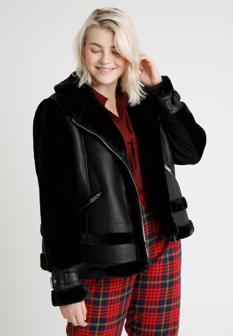 River Island Plus - SYLVESTER JACKET - Winter jacket - black