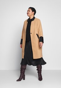 River Island Plus - Classic coat - camel - 1