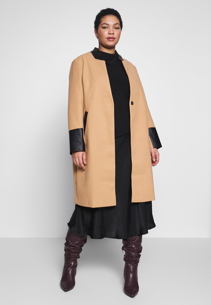 River Island Plus - Classic coat - camel