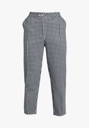 TAILORING DOGTOOTH CIGARETTE - Bukse - black