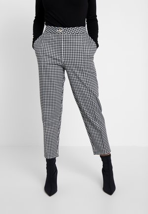 TAILORING DOGTOOTH CIGARETTE - Trousers - black