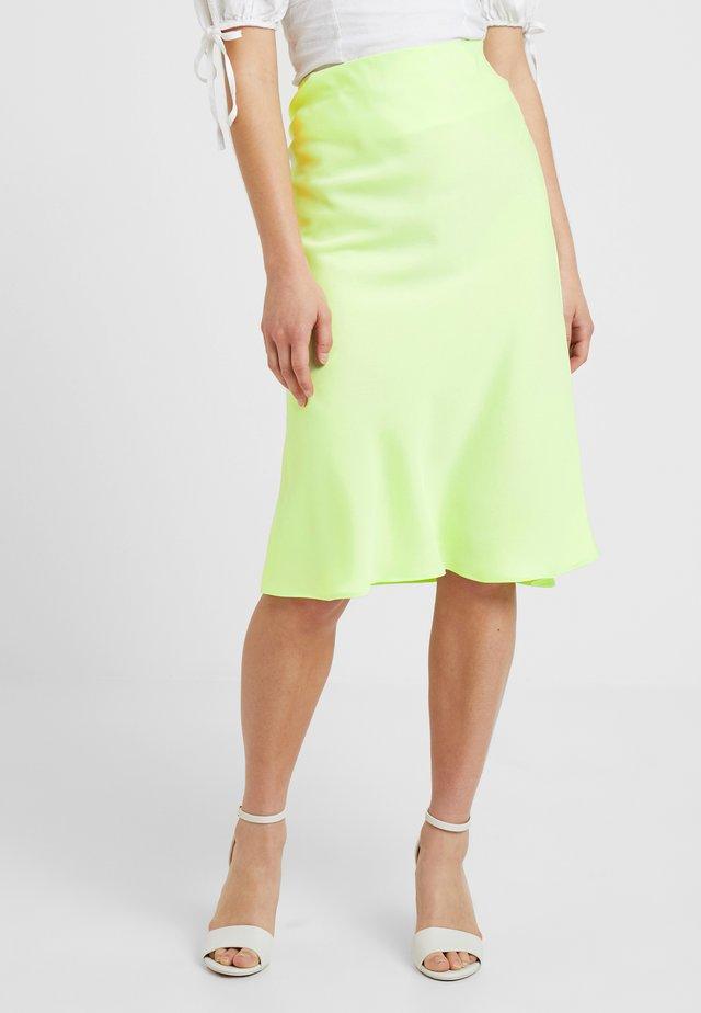 A-line skirt - lime
