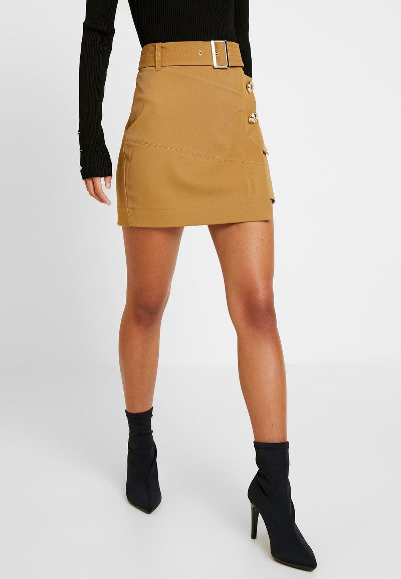 River Island Petite - Mini skirt - beige
