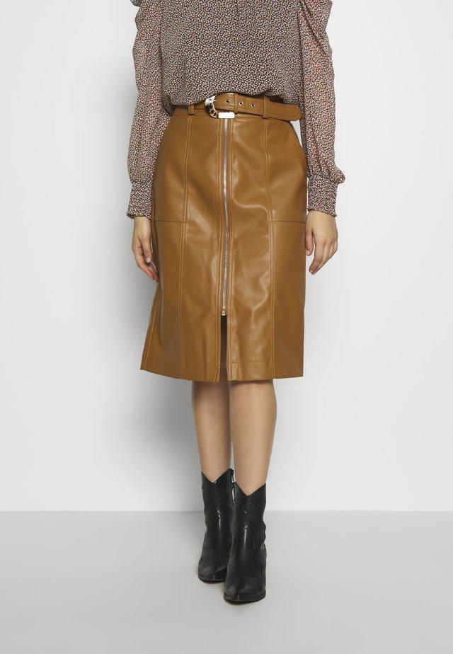A-line skirt - tan