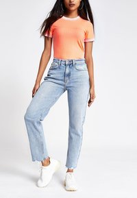 River Island Petite - T-shirt imprimé - orange - 0