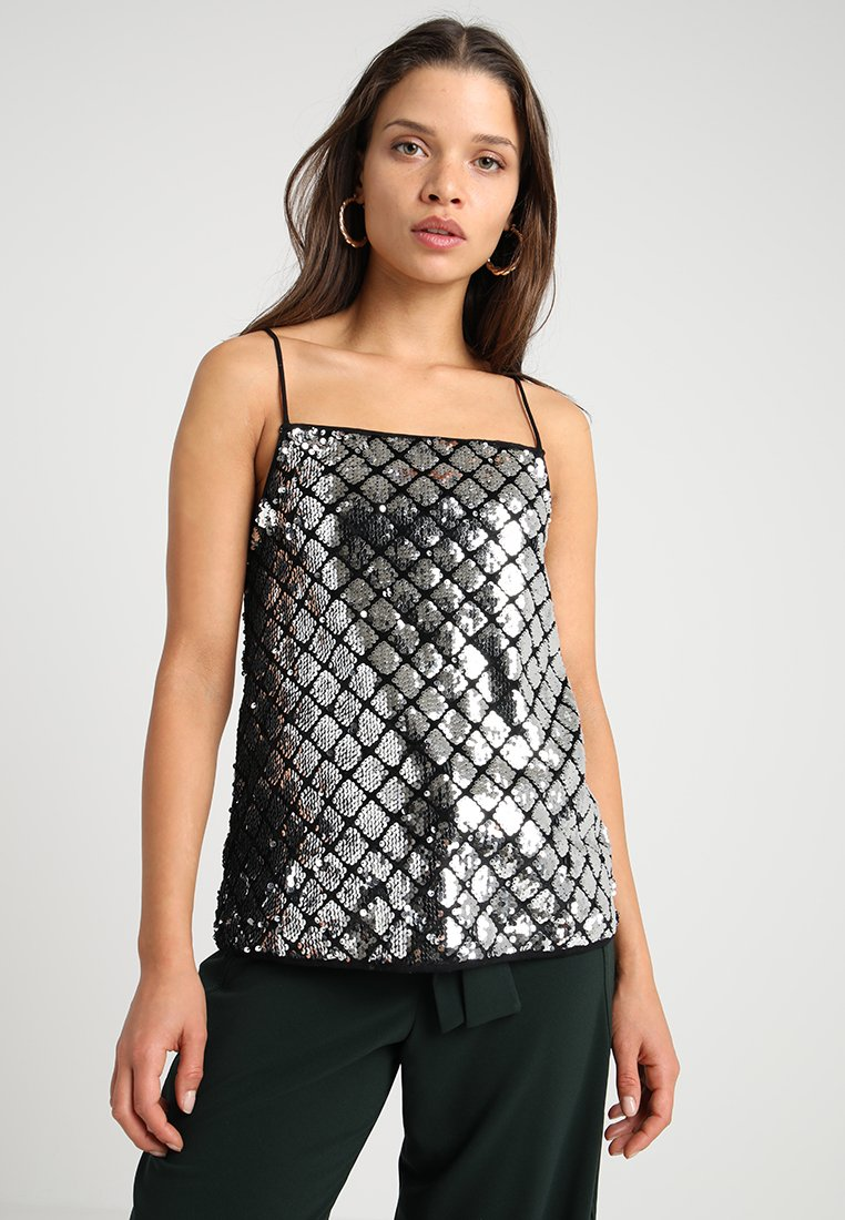 River Island Petite - Top - dark grey
