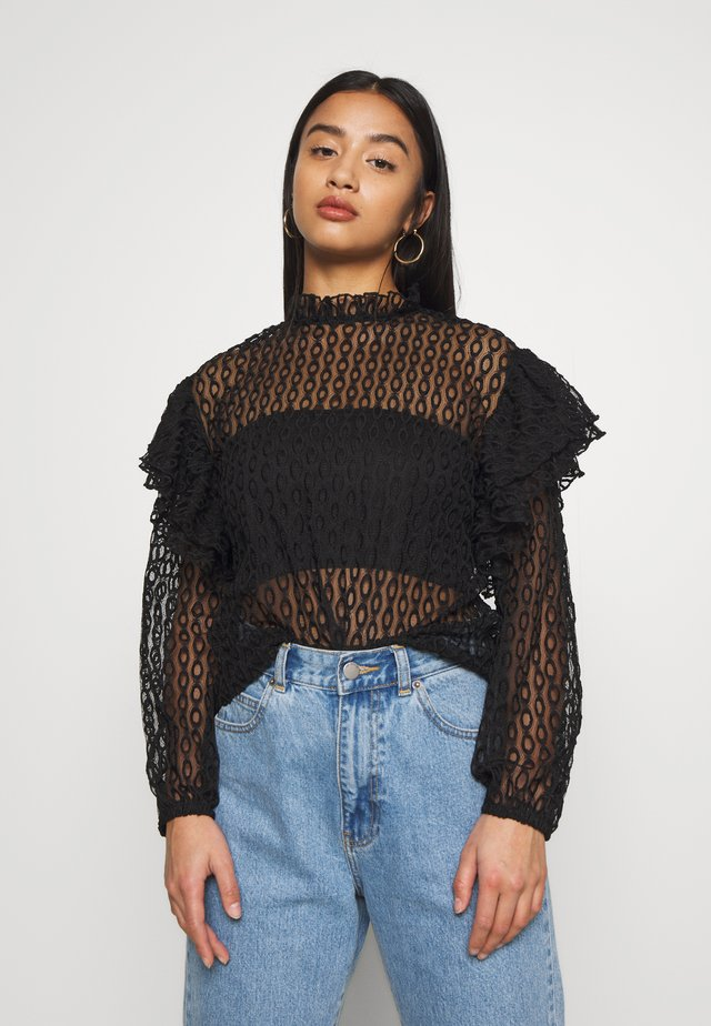 CRUST HIGH NECK  - Blouse - black