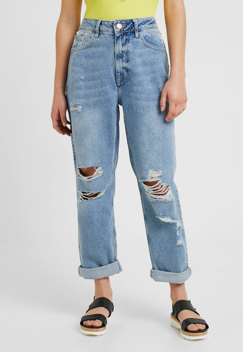 River Island Petite - Relaxed fit jeans - light blue denim