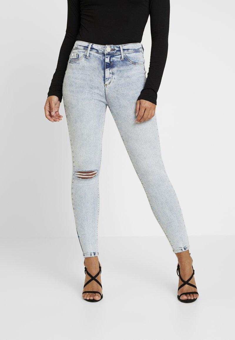 River Island Petite - Jeans Skinny Fit - light-blue denim
