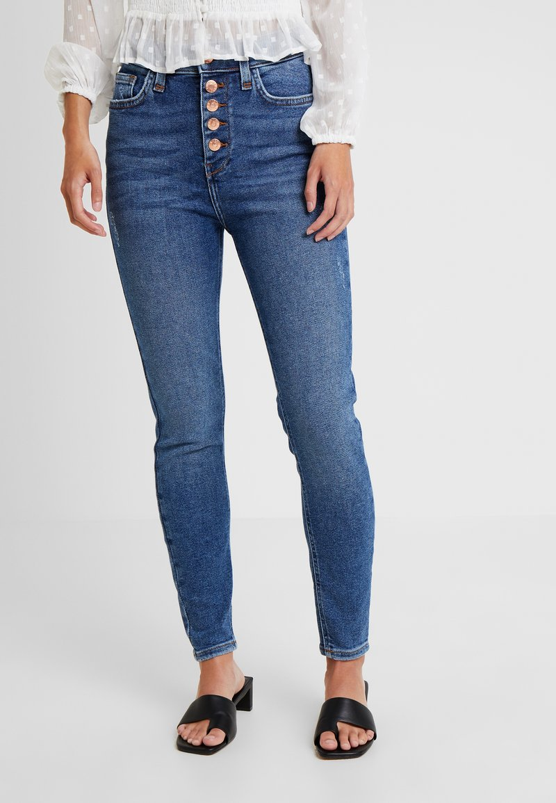 River Island Petite - Jeans Skinny Fit - dark auth