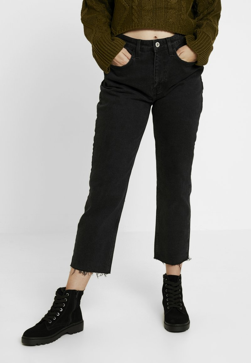 River Island Petite - Jeans Straight Leg - black washed