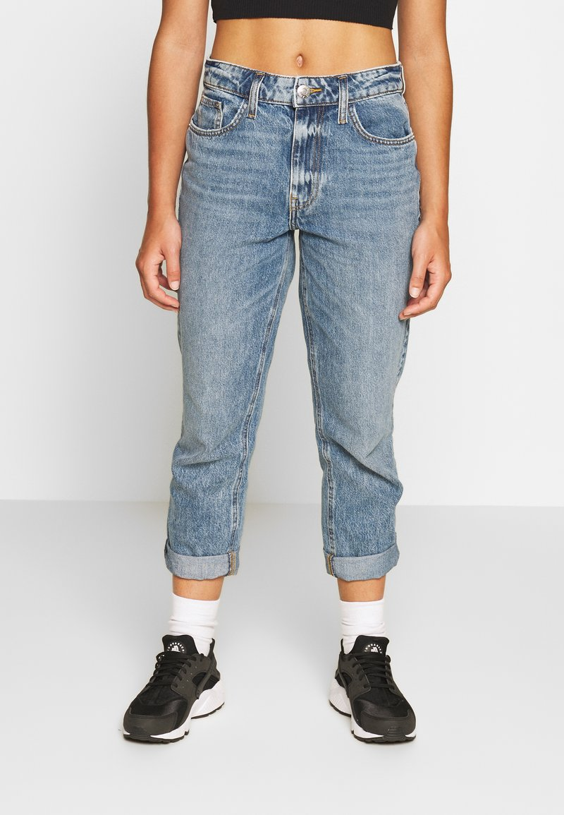 River Island Petite - Jeans Relaxed Fit - stone blue denim