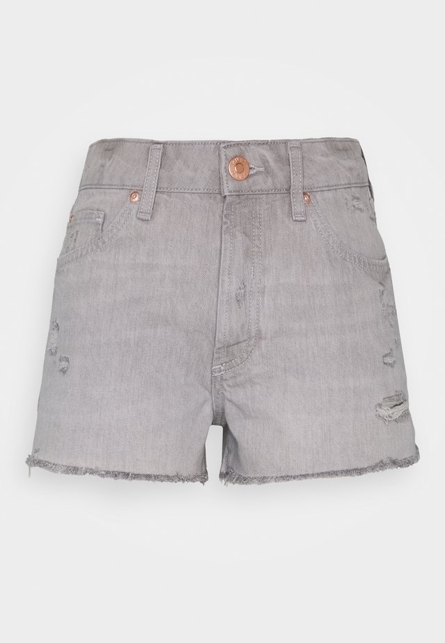 HANNAH SHORTACID - Denim shorts - acid wash grey