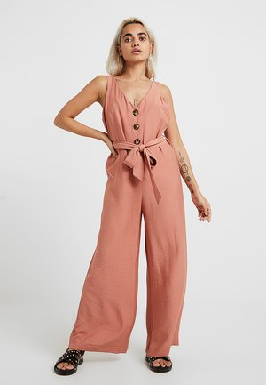 Jumpsuit - pink dark