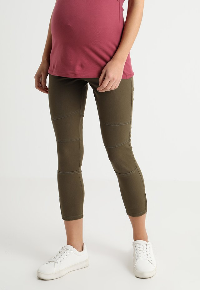 ISLA BIKER GRAZER - Jeans Skinny Fit - pickle green
