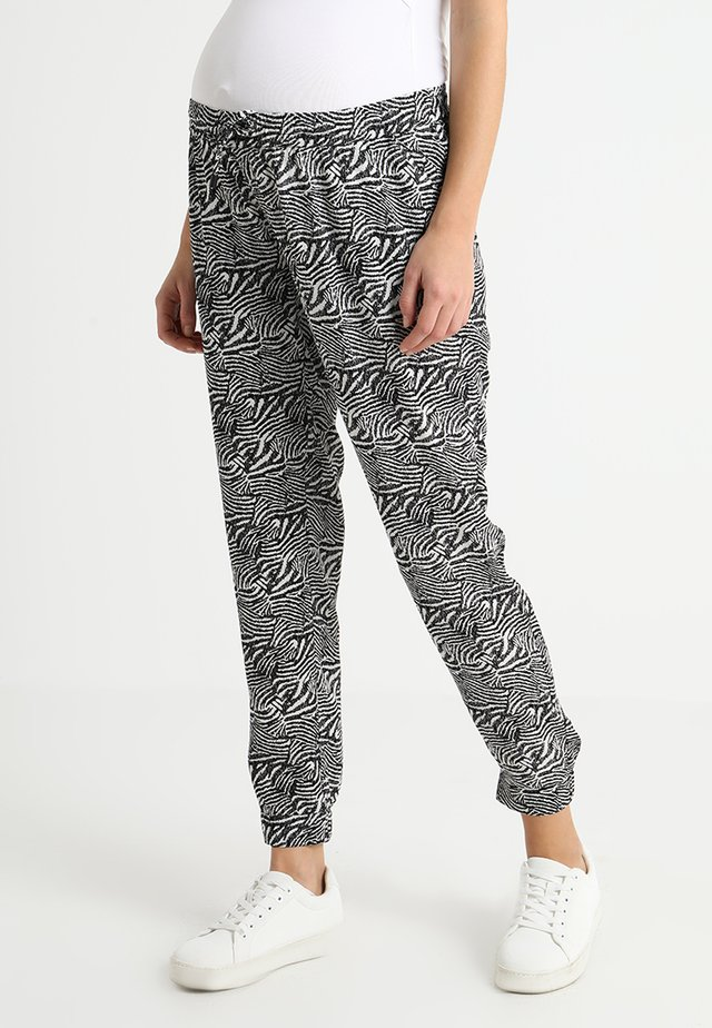 SAFARI SKETCH PANT - Trousers - black/white