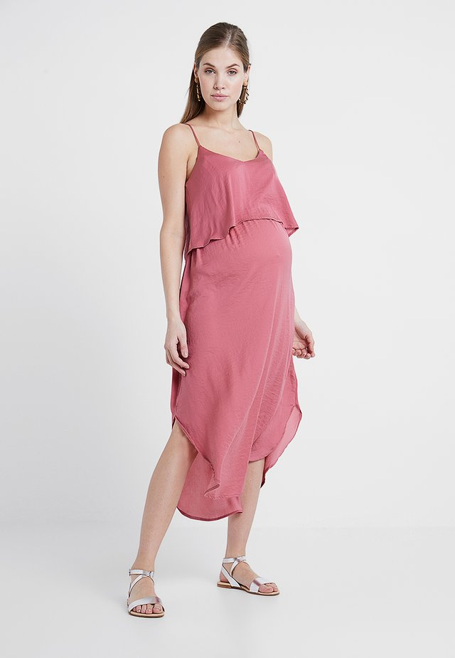 NURSING SLIP DRESS - Korte jurk - rose