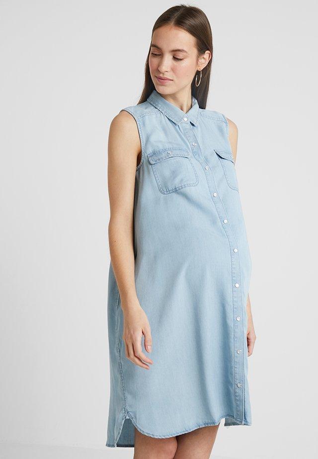 SLEEVELESS WEEKEND - Denimové šaty - clean fade