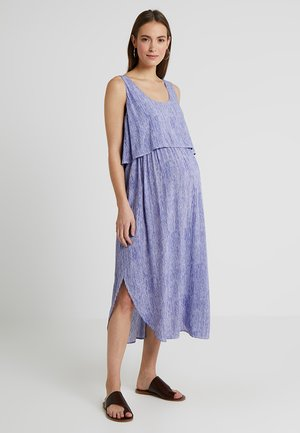 STELLA STRIPE NURSING DRESS - Day dress - royal/white