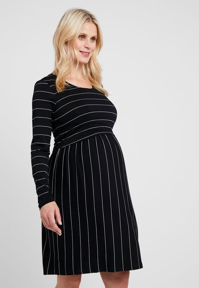 CROP NURSING DRESS - Jerseykleid - black/flint