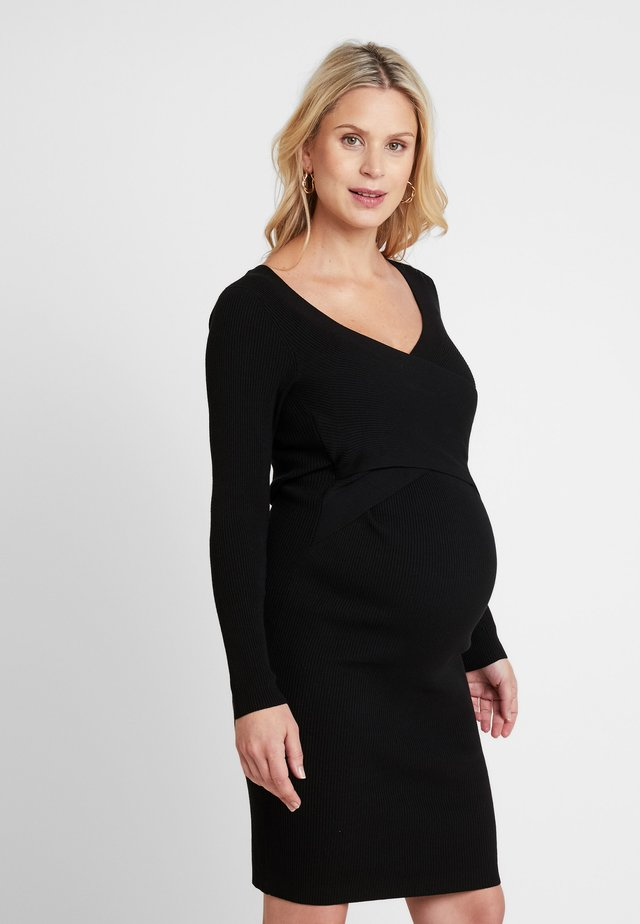 SADIE NURSING DRESS - Neule - black