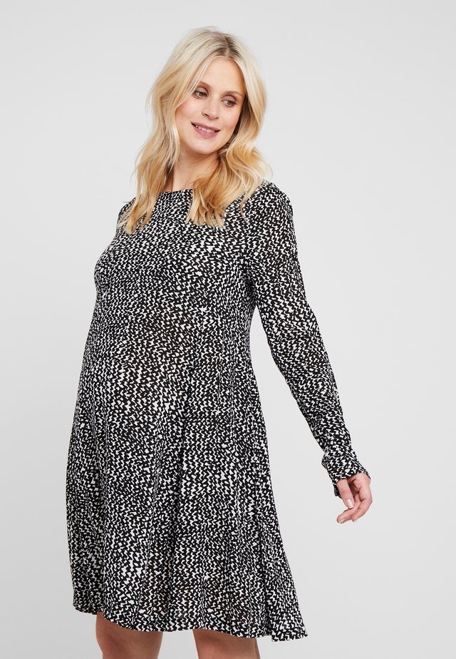 ZIGGY DRESS - Vapaa-ajan mekko - black/white
