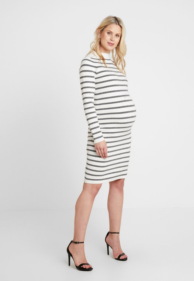 GRID DRESS - Etui-jurk - white/black