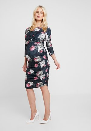 HARLOW DRESS 3/4 - Jerseykjole - black