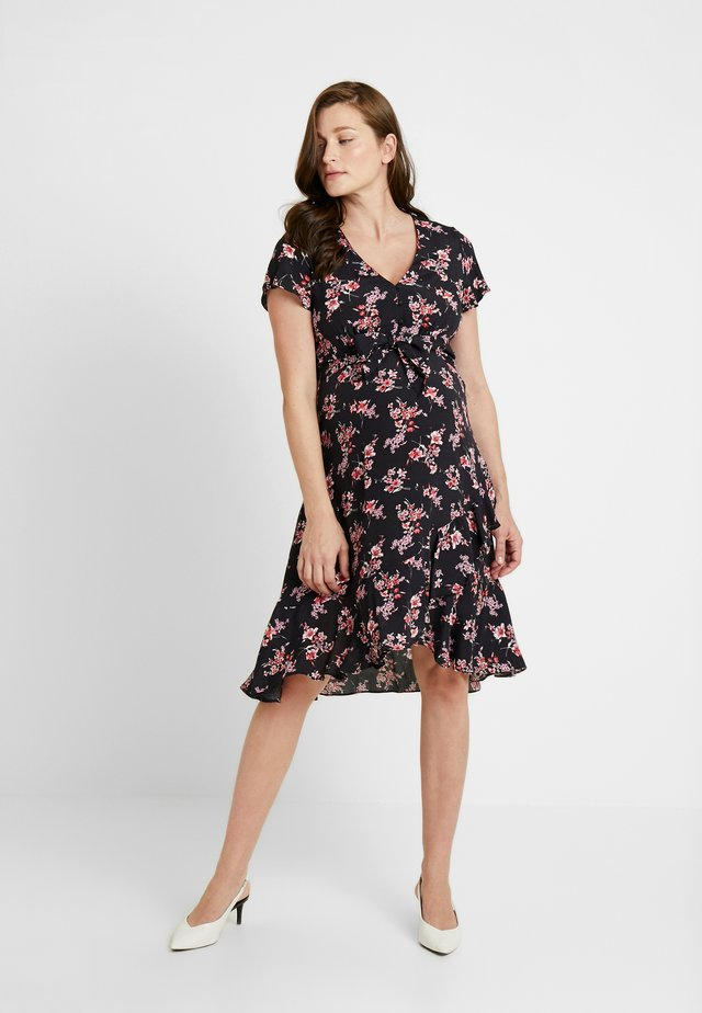 TIE FRONT DRESS - Day dress - multi-coloured