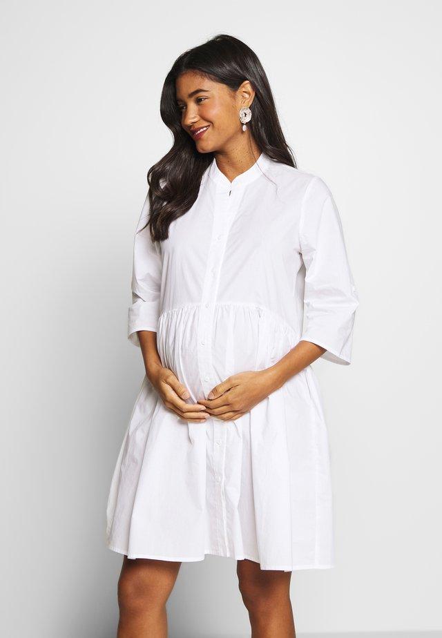 POPLIN DRESS - Blusenkleid - white