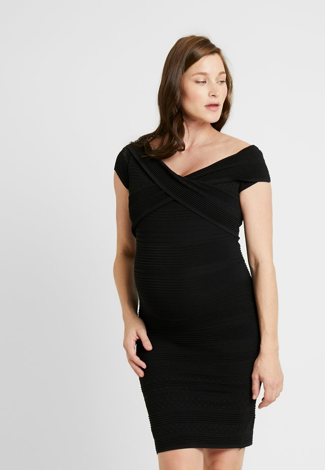 POINTELLE  DRESS - Shift dress - black