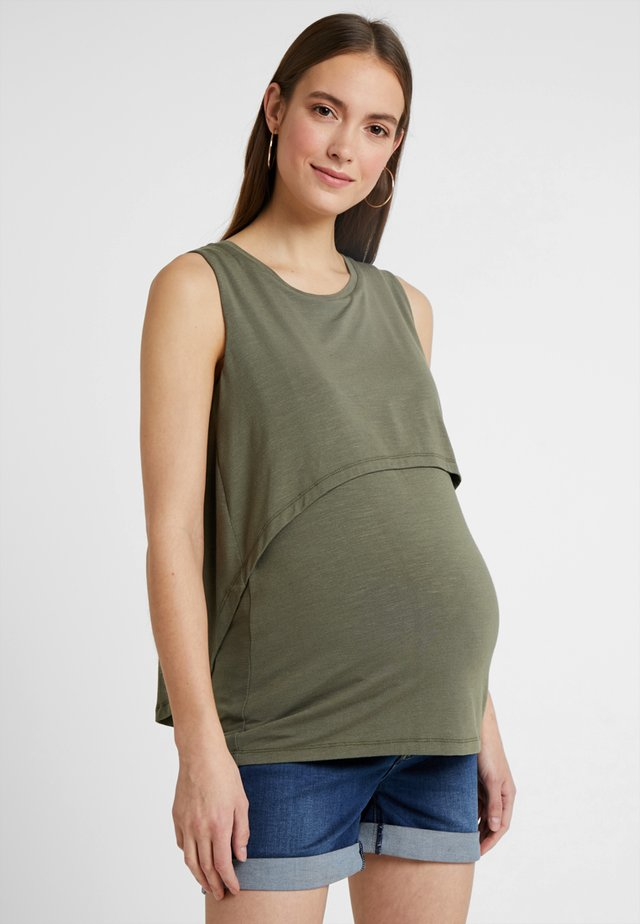 SUMMER SWING BACK NURSING TANK - Top - olive