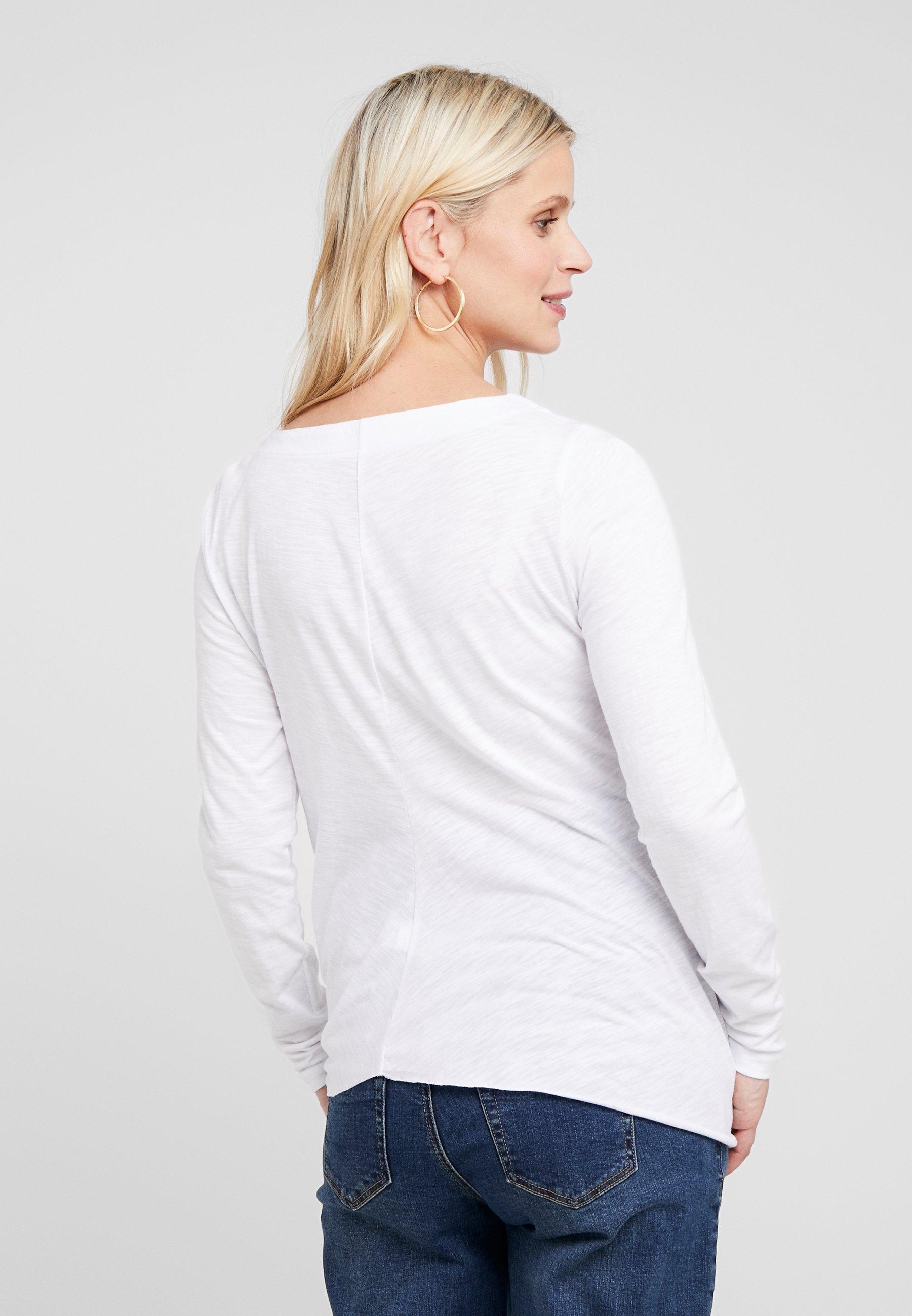shirt À Manches Ripe Tie Longues KnotT White Side oexdCB