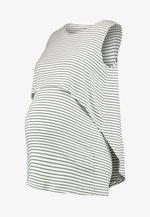 STRIPE SWING BACK NURSING TANK - Top - white/khaki