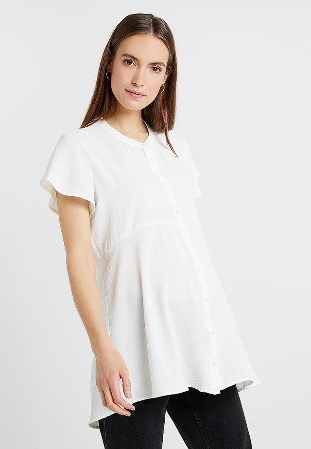 SHORT SLEEVE PEPLUM - Hemdbluse - white