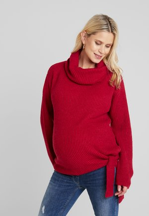 COSY TIE UP - Pullover - cherry