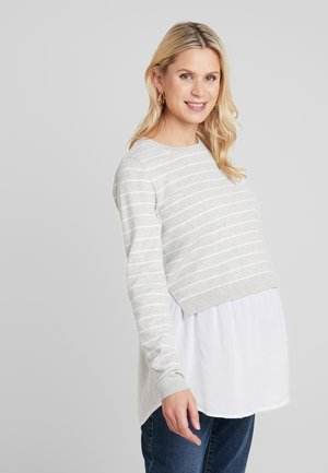 NURSING - Pullover - silver marle/white