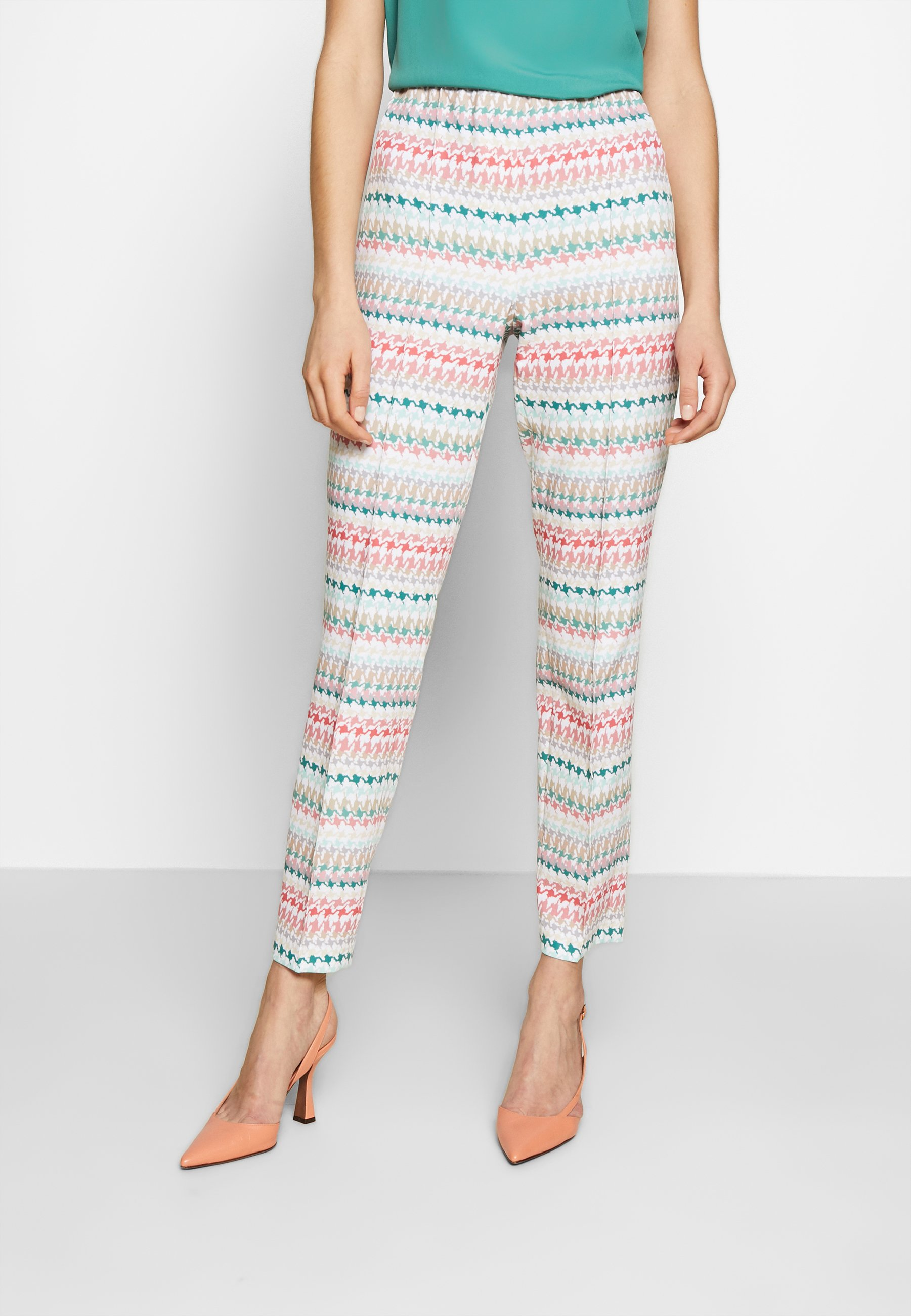 RIANI SLIM FIT - Spodnie materiałowe - multicolour