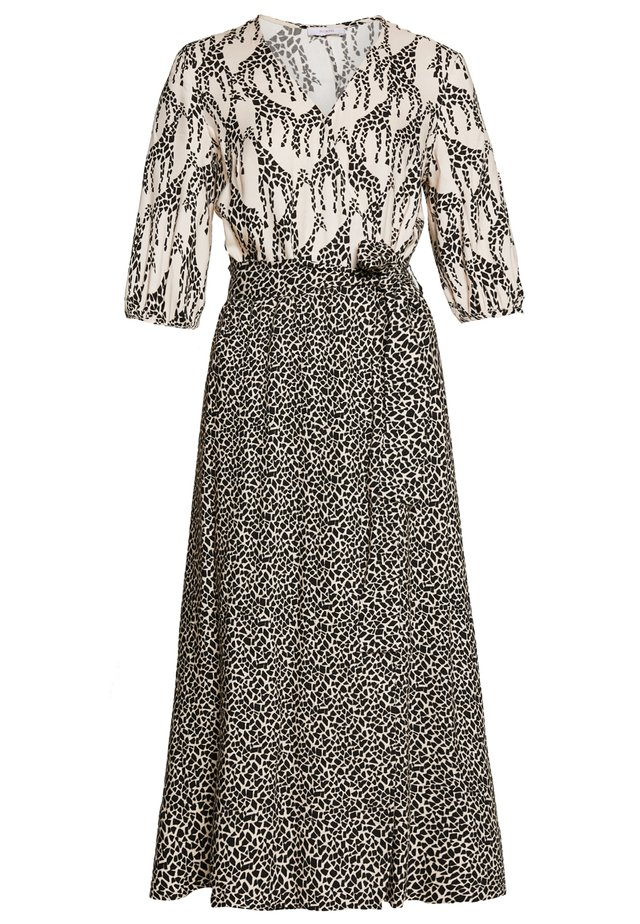 Korte jurk - ivory patterned