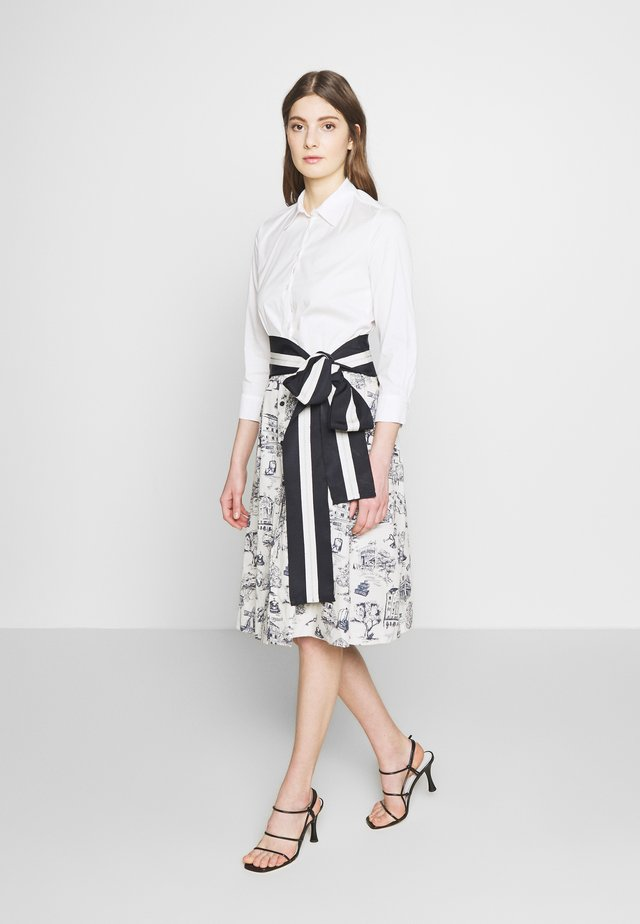 Shirt dress - ivory patterned