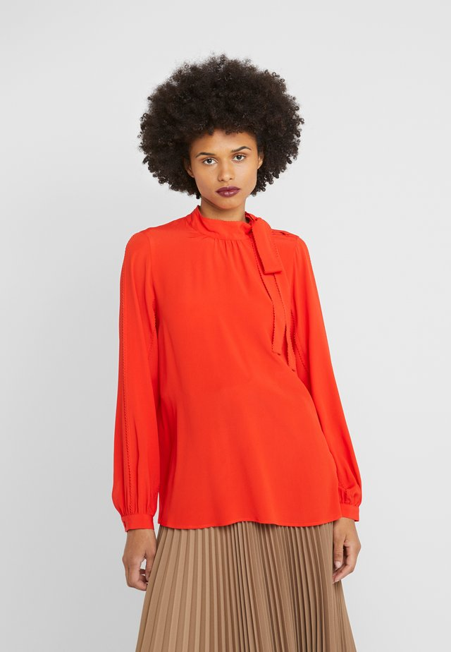 Blouse - fire red