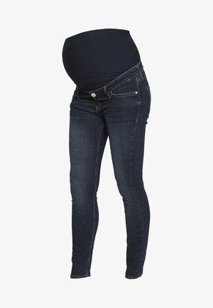 AMELIE BURGER OVERBUMP - Jeans Skinny - dark auth